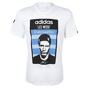 adidas Messi Fanshirt Herren weiß