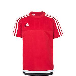 adidas Tiro 15 Funktionsshirt Kinder rot / weiß / schwarz