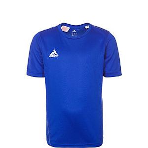 adidas Core 15 Funktionsshirt Kinder blau / weiß