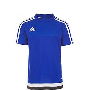 adidas Tiro 15 Funktionsshirt Kinder blau / weiß