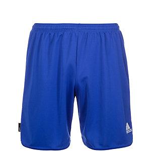 adidas Fußballshorts Kinder blau / weiß