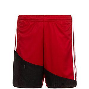 adidas Regi 16 Fußballshorts Kinder rot / weiß / schwarz