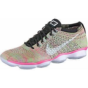 Nike Flyknit Zoom Agility Fitnessschuhe Damen pink/grün
