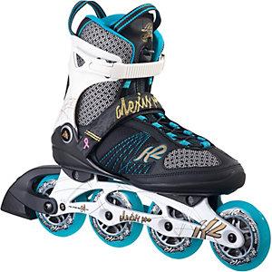 K2 Alexis Pro 84 Fitness Skates Damen schwarz/türkis