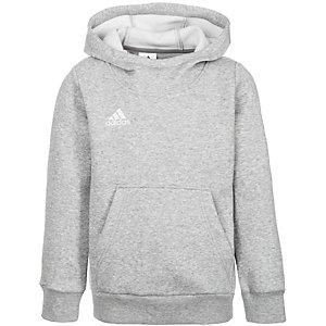 adidas Core 15 Hoodie Kinder grau / weiß