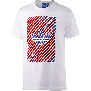 adidas Printshirt Herren weiß/rot/blau