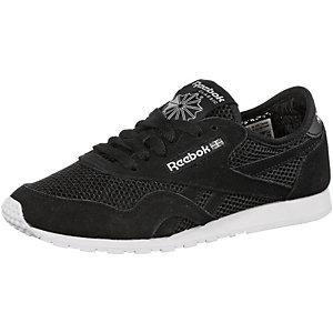 Reebok Classic Nylon Slim Mesh Sneaker Damen schwarz