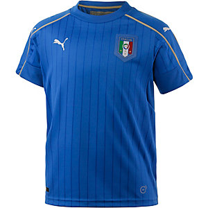 PUMA Italien EM 2016 Heim Fanshirt Kinder blau/weiß