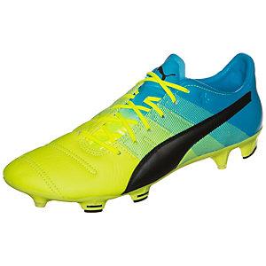 PUMA evoPOWER 1.3 Leather Fußballschuhe Herren neongelb / blau