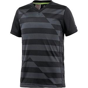 adidas Funktionsshirt Jungen grau/schwarz