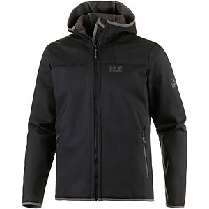 Jack Wolfskin Grand Valley Softshelljacke Herren schwarz