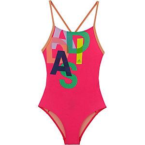 adidas Badeanzug Mädchen rot/bunt