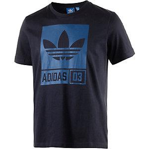 adidas Printshirt Herren schwarz/blau