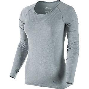 Nike Dri-Fit Knit Laufshirt Damen hellgrau