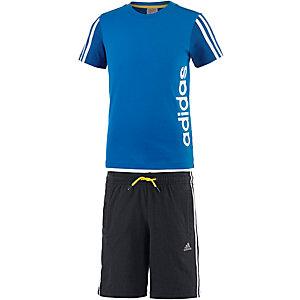 adidas Trainingsanzug Jungen blau/schwarz