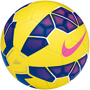 Nike Saber HI-VIS Fußball Größe 5 Fußball gelb / lila / pink