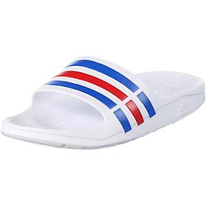 adidas Duramo Slide Sandalen weiß
