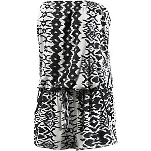 Lascana Jumpsuit Damen schwarz/weiß