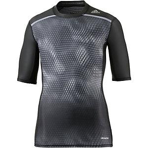 adidas Tech Fit Kompressionsshirt Herren schwarz