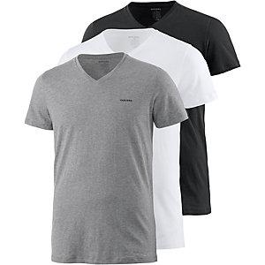 DIESEL V-Shirt Herren schwarz/weiß/grau