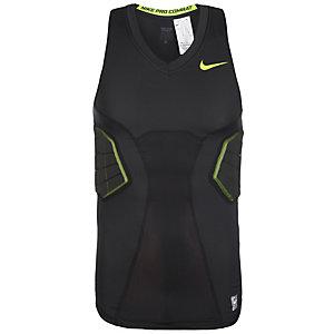 Nike Pro Combat Hyperstrong Kompressionsshirt Herren schwarz / neongelb