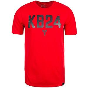 Nike T-Shirt Herren rot / schwarz