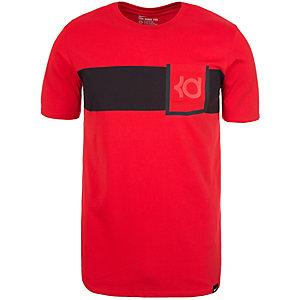 Nike QT Kevin Durant V8 T-Shirt Herren rot / schwarz