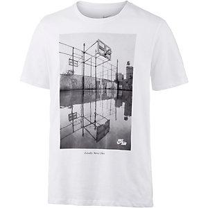 Nike Image Printshirt Herren weiß