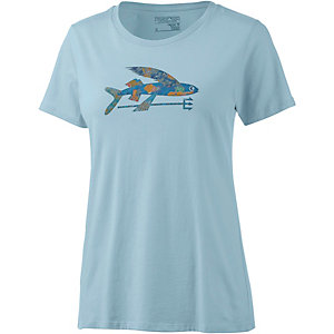 Patagonia Isle Wild Flying Fish Printshirt Damen hellblau