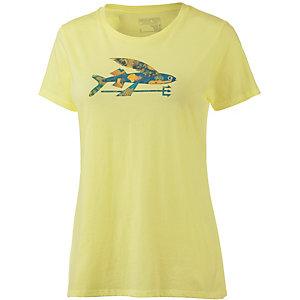Patagonia Isle Wild Flying Fish Printshirt Damen gelb
