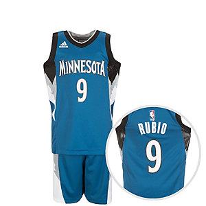 adidas Minnesota Timberwolves Rubio Basketball Trikot Kinder blau / weiß