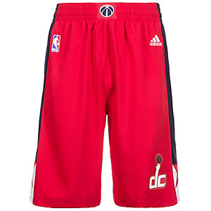 adidas Washington Wizards Swingman Basketball-Shorts Herren rot / weiß / blau