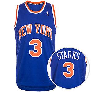 adidas New York Knicks Starks Swingman Basketball Trikot Herren blau / orange / weiß
