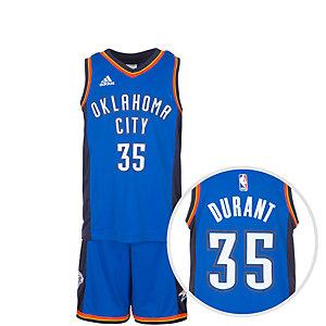 adidas Oklahoma City Durant Basketball Trikot Kinder blau / weiß