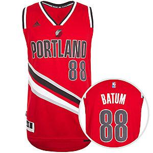 adidas Portland Trailblazers Batum Swingman Basketball Trikot Herren rot / schwarz