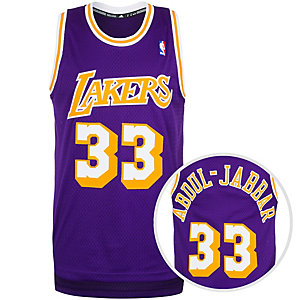 adidas LA Lakers Abdul-Jabbar Swingman Basketball Trikot Herren lila / gelb
