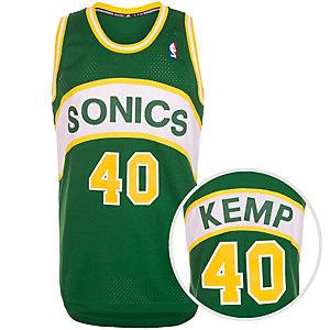 adidas Seattle Supersonics Kemp Swingman Basketball Trikot Herren grün / gelb / weiß