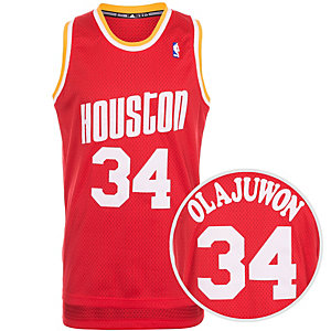 adidas Houston Rockets Olajuwon Swingman Basketball Trikot Herren rot / weiß / orange