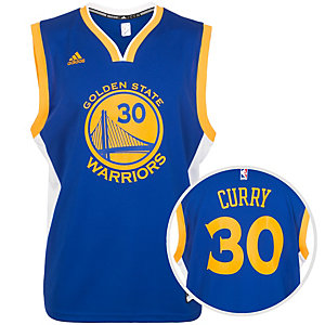 adidas Golden State Curry Replica Basketball Trikot Herren blau / gelb