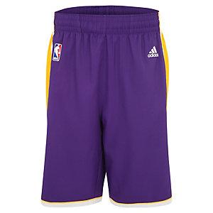 adidas LA Lakers NBA Swingman Basketball-Shorts Herren lila / gelb