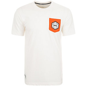 adidas New York Knicks Washed II Basketball Shirt Herren beige / orange
