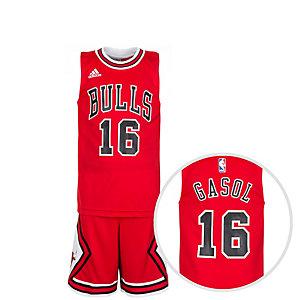 adidas Chicago Bulls Gasol Basketball Trikot Kinder rot / schwarz