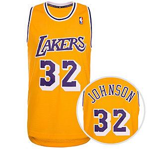 adidas Los Angeles Lakers Johnson Swingman Basketball Trikot Herren gelb / lila / weiß