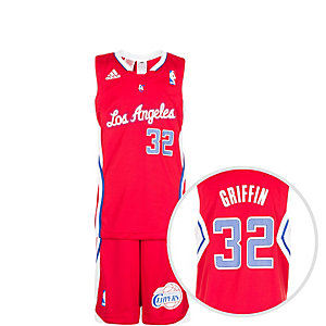 adidas Los Angeles Clippers Basketball Trikot Kinder rot