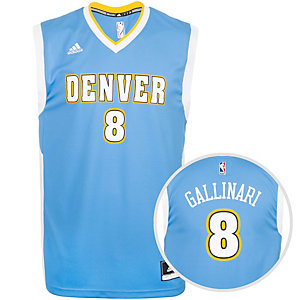 adidas Denver Nuggets Gallinari Replica Basketball Trikot Herren hellblau / weiß