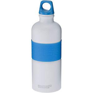 SIGG CYD Pure White Touch Blue Trinkflasche blau/weiß