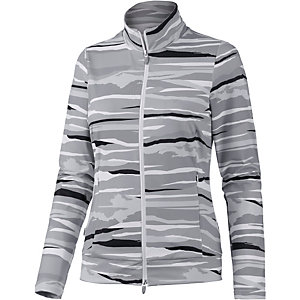 Joy Pavla Trainingsjacke Damen hellgrau/weiß