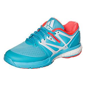 adidas Stabil Boost Handballschuhe Damen hellblau / neonrot