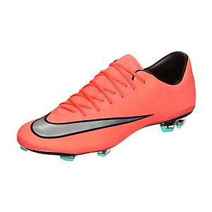 Nike Mercurial Vapor X Fußballschuhe Kinder neonrot / silber