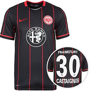 Nike Eintracht Frankfurt Castaignos 15/16 Hei Fußballtrikot Herren schwarz / rot